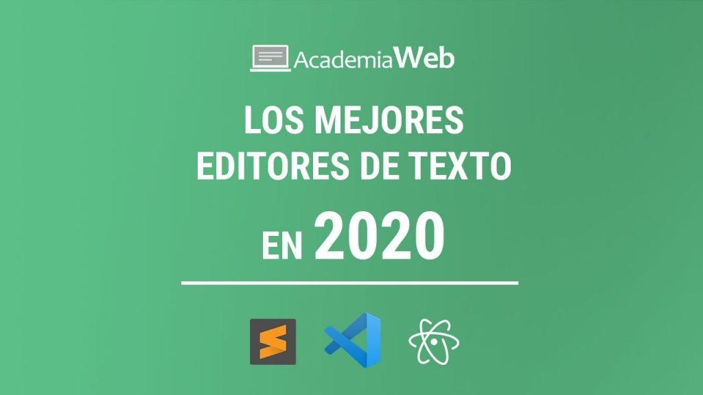 Mejores editores de texto en 2020