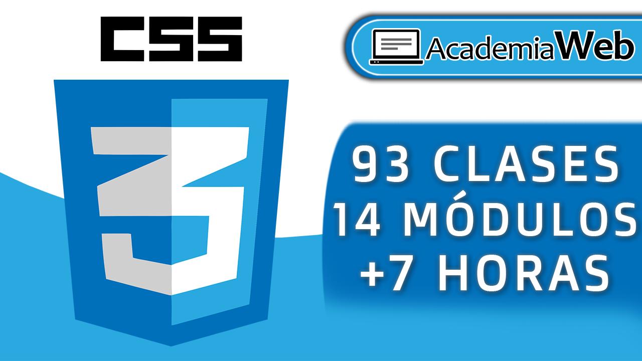 Logotipo y descripción del curso de css